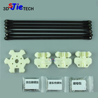 High precision Kossel 3D fisheye Y carriage plastic injection molding set with carbon rod kit for DIY Kossel Delta 3D printer