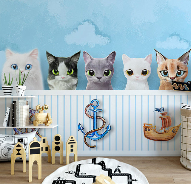 Photo Mural Kids Wallpaper Child Custom 3d Photo Modern Cartoon Cute
