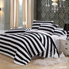 Black White Striped Bedding Set Full Queen Size Bed New 100 Cotton Quilt Duvet Covers Set