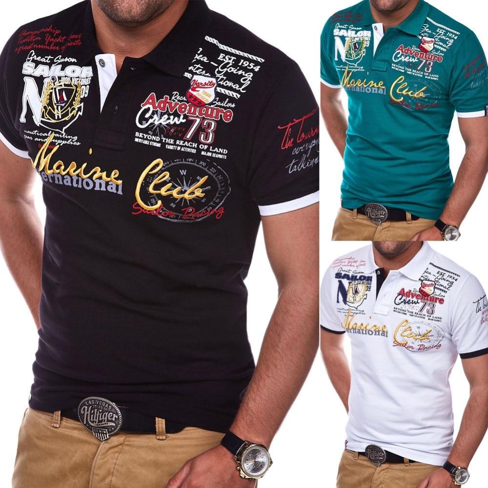 Men Short Sleeve Polo Shirt Casual Shirts Slim Fit Cotton Men's Polo Shirt Hot Sale 9