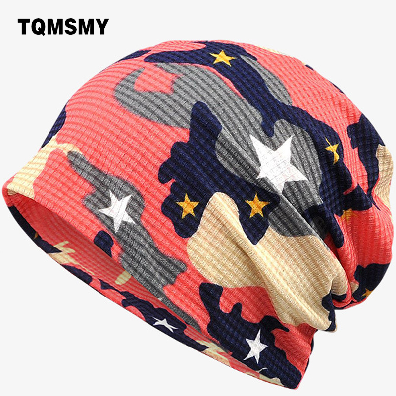 TQMSMY 2017 Summer Thin Camouflage Collar Scarf Multi Use Hats for Men or Women Star Hat Hip Hop Beanies TMG506