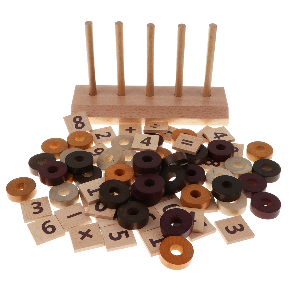 Baby Preschool Kindergarten Wooden Montessori Mathematics Math Learning Educational Toy 76pcs Set