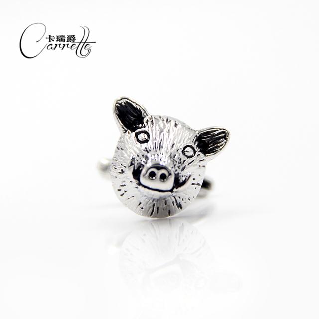 Factory Spot Direct Fun Pig Head Shape Male Female Business French Cuff Sleeve Animal Cuffs