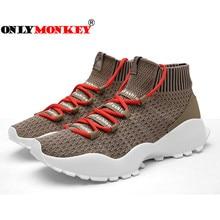 2018 New Design Men Casual Shoes Fashion Style Mesh Breathable Sock Footwear Men Sneakers Durable & Light Men Walking Sneakers