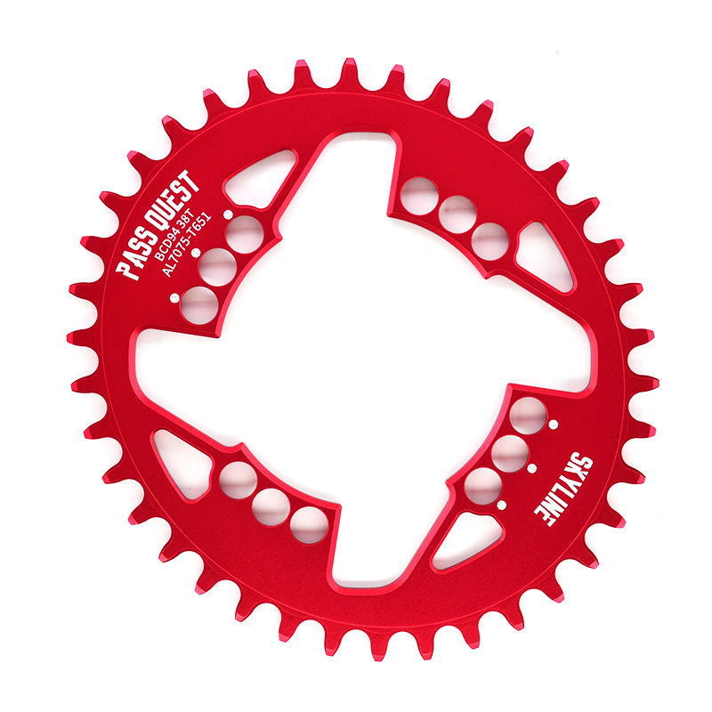 PASS QUEST bicycle mtb oval crankset Chainring mountain bike Chainwheel Aluminum BCD94 GX crank 32-38T