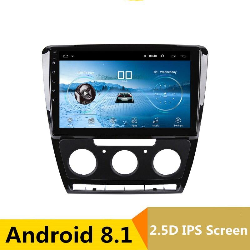 10.1 Android Voiture DVD Lecteur Multimédia GPS Pour Skoda Octavia 2010 2011-2014 audio de voiture radio stéréo navigateur bluetooth wifi