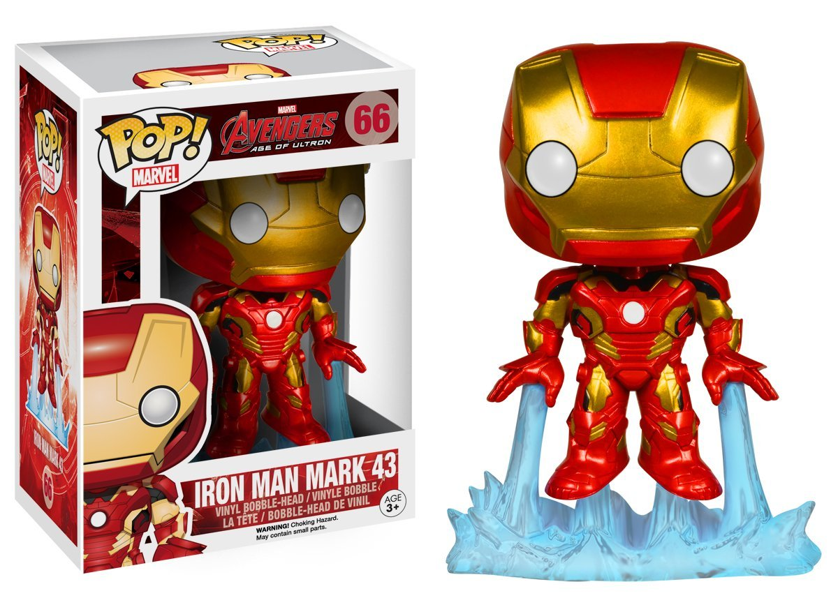 FUNKO POP Marvel the  Avengers Iron Man Mark 43 #66 PVC Action Figure Collectible Model Toy 10cm KT1008  funko pop marvel the hulk no 08 red hulk no 31 iron man vinly bobble head pvc action figure collectible model toy gift for kids