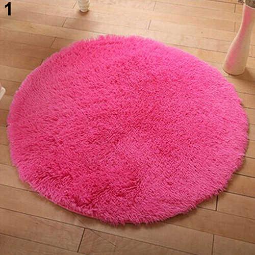 Casa decoração de banho macio quarto antiderrapante piso chuveiro tapete yoga pelúcia redonda tapete têxtil para casa