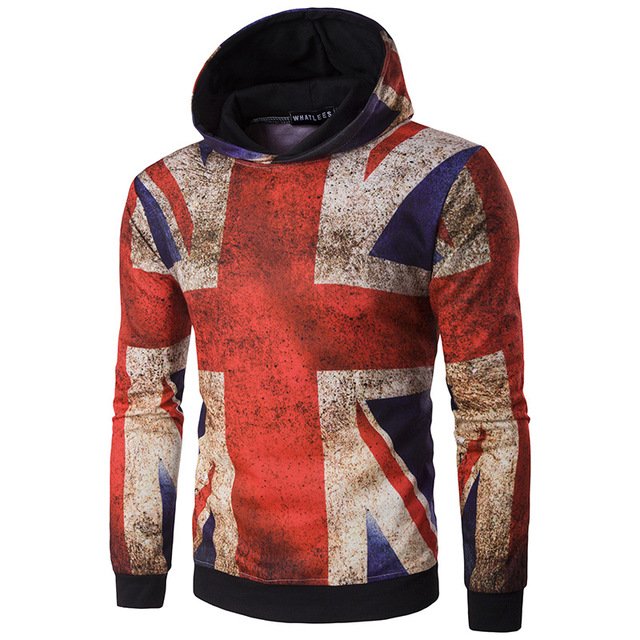 2017 new arrival hoodies autumn wear clothing uk flag