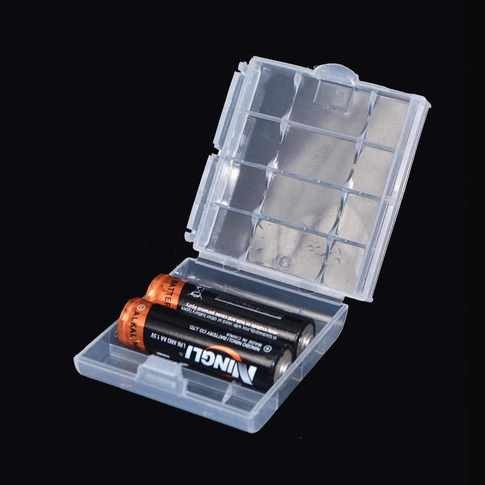Kebidumei ل 10440 14500 AA AAA بطارية البلاستيك حامل صندوق تخزين حاوية ملونة حقيبة صندوق منظم