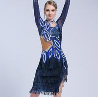 competition latin dress for girls dance latin dress woman latin ballroom dress women competition latin dance dress blue color