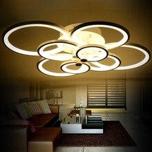 Dimmable moderne led lustre lumières pour salon chambre enfants chambre surface monté led accueil intérieur plafond lustre lampe