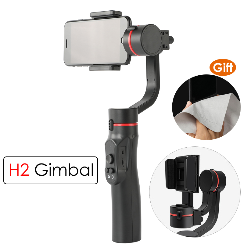 H2 3-Axis Smartphone Handheld Gimbal Stabilizer Steadicam for Gopro Action Camera for iPhone X 8 Plus 8 7 Plus 7 6S for Samsung feiyutech feiyu spg gimbal 3 axis splash proof handheld gimbal stabilizer for iphone x 8 7 6 plus smartphone gopro action camera