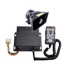 12V 200W Siren AS9200E Police Siren Wired Amplifer with Mic Black Plastic Fat Speaker Alarm Electronic Sirene PA System