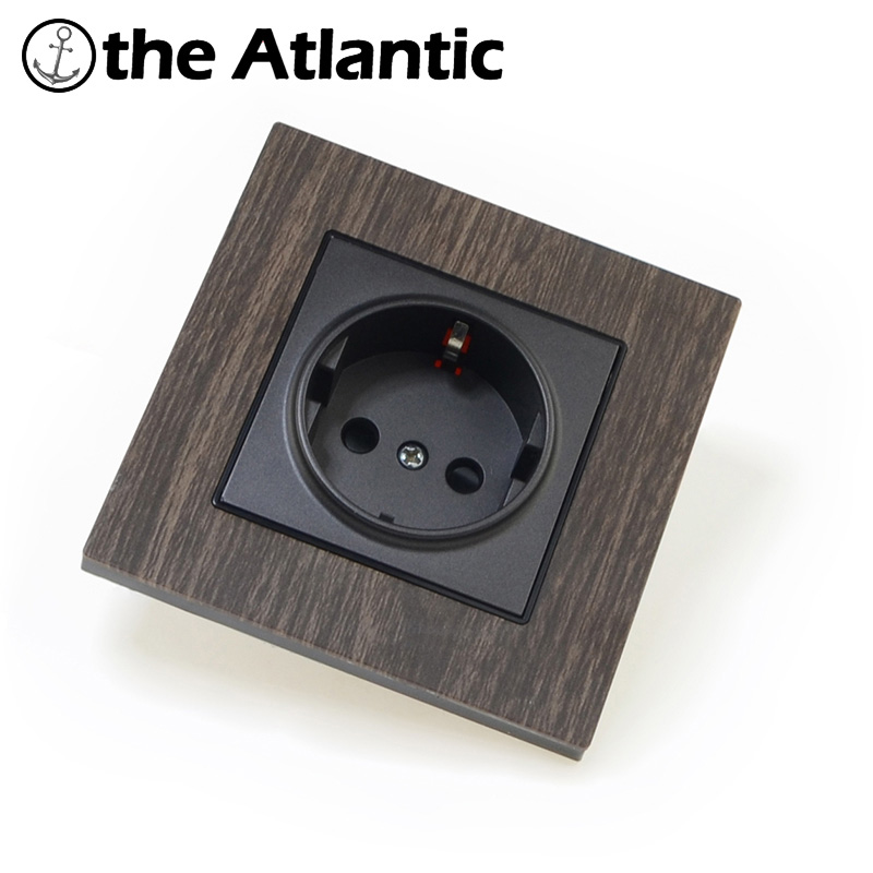 Metal panel 16A EU Standard Wall Socket Power Outlet Enchufe Electrical Plug Soquete Electric Wall Charger british mk british unit power supply socket metal 13a power outlet british standard unit socket