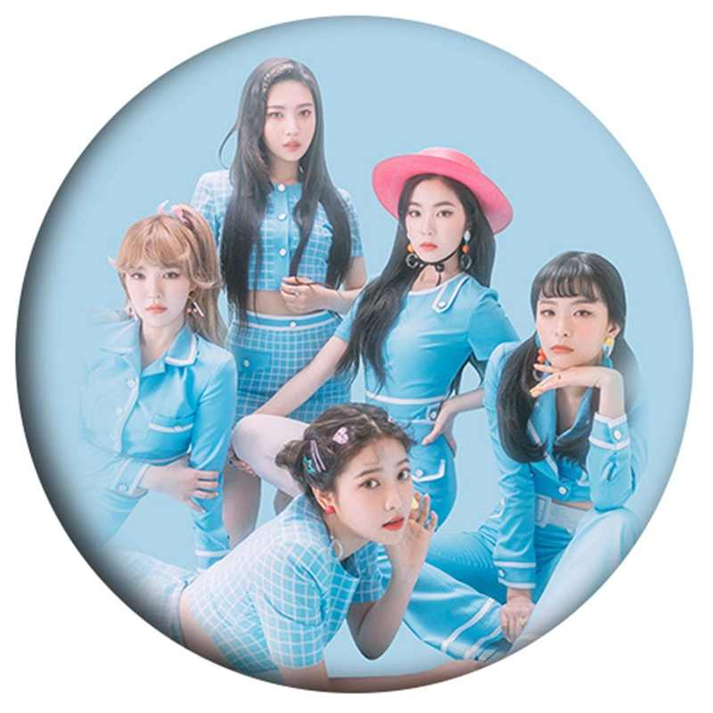 KPOP Red Velvet 2018 Mini Album The Red Summer Red Flavor 58mm Round Badge Pins And Brooches For Clothes Hat Backpack