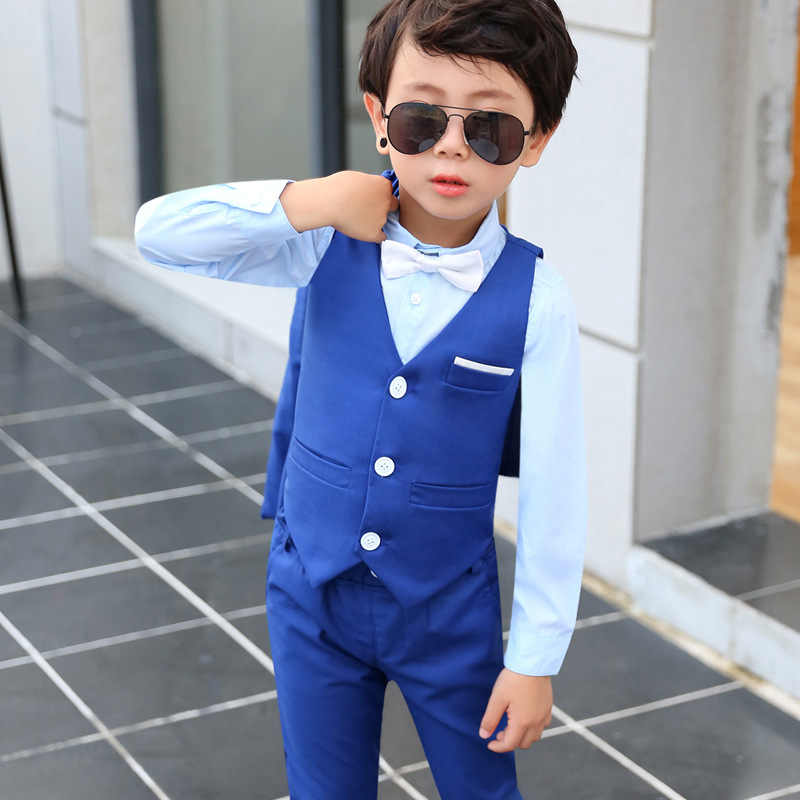 5a859c3b6 ... Boys Suits for Weddings Children Blazer Suits for Teenagers Clothing Kids  Coat+vests+pants ...