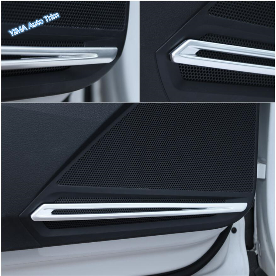 Lapetus Car Styling Side Car Door Stereo Speaker Audio Sound Strip Cover Trim ABS Fit For Volkswagen VW Tiguan MK2 2016 2019 in Interior Mouldings from Automobiles Motorcycles