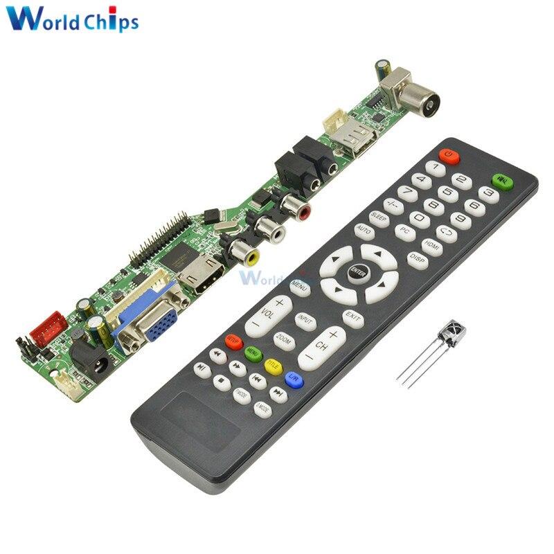 Universal LCD Controller Board Resolution TV Motherboard VGA/HDMI/AV/TV/USB HDMI Interface Driver Board Drive Control Module