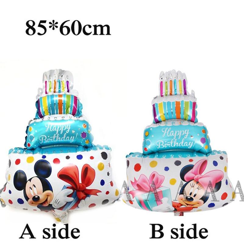 18pcs New Mickey Minnie Aircraft Birthday Balloons Children S