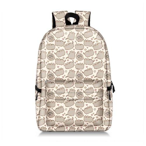 Pusheen Cat Printing Backpack Anime Kawaii Bag Schoolbag Backpack Nylon Travel Rucksacks Cartoon School Bags for Teenage Girls