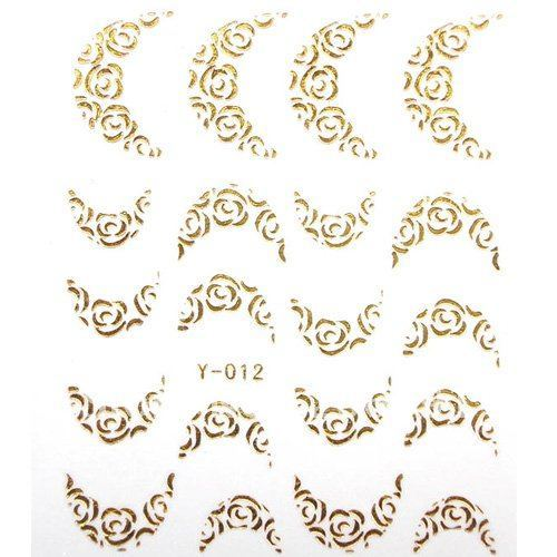 Hot-selling NAS-211 30 Pcs/Lot Water Transfer Printing Metallic Nail Sticker Wholesale or Retail