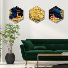 Creativ restaurant wall painting home decorative Sofa background Bedroom triptych rhythm
