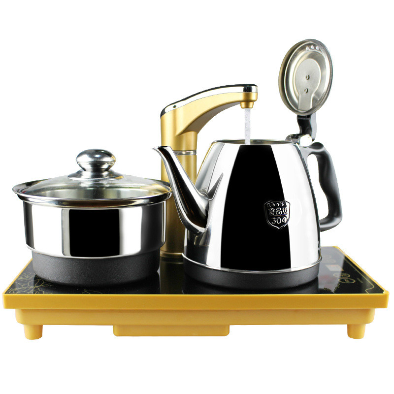 Electric kettle Automatic upper water electric 304 stainless steel kettles with three-in-one tea set Safety Auto-Off Function automatic upper water electric kettle pump 304 stainless steel tea set