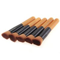 Hot Sale 3 Sets Of 5 PCS Flat Brush Top Buffer Foundation Powder Cosmetic Makeup Nylon