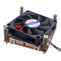 1U Server CPU Cooler Copper Skiving Fin Heatsink For Intel Pentium Core LGA 775 Industrial workstation Computer Active Cooling