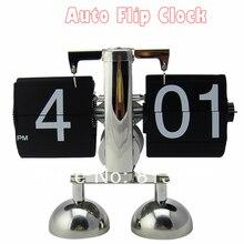 1 шт. черный и белый творческие подарки авто флип часы для дома и офиса настольные декоративные настольные часы