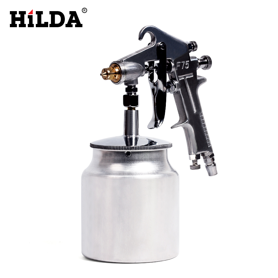 HILDA Paint Gun Pneumatic Spray Gun 400ML Airbrush Sprayer Alloy Painting Atomizer Tool With Hopper For Painting Cars стоимость