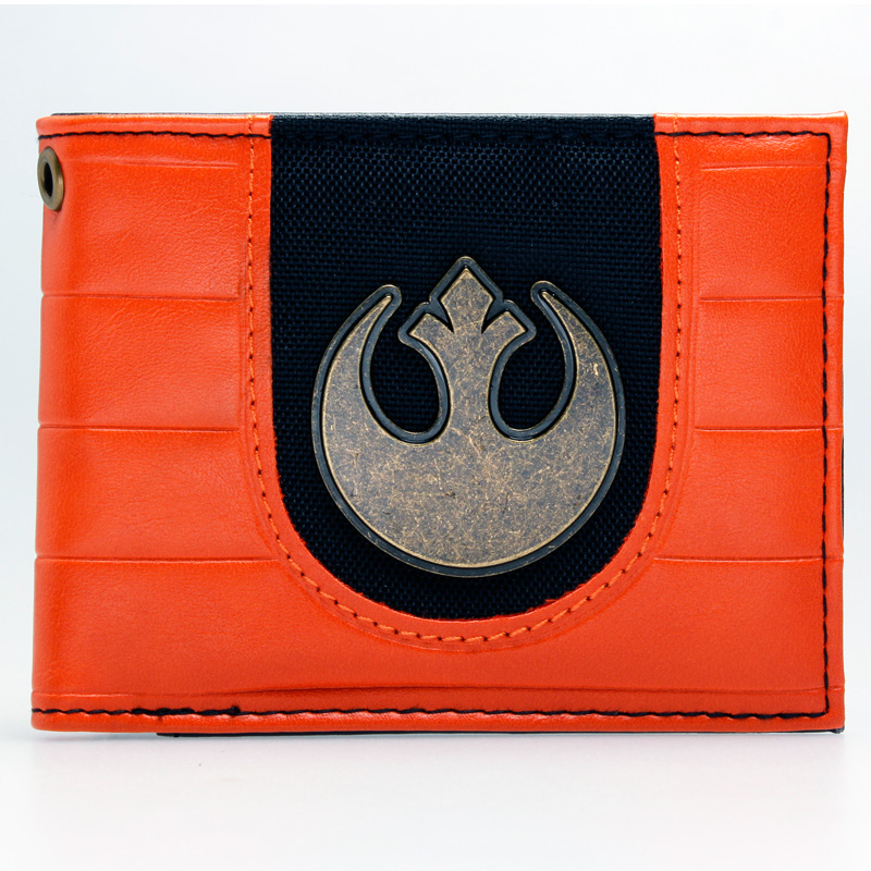 Star Wars Rebel Emblem Logo Mix Material Bi-fold  Wallet DFT-1874 rebel star hoodie