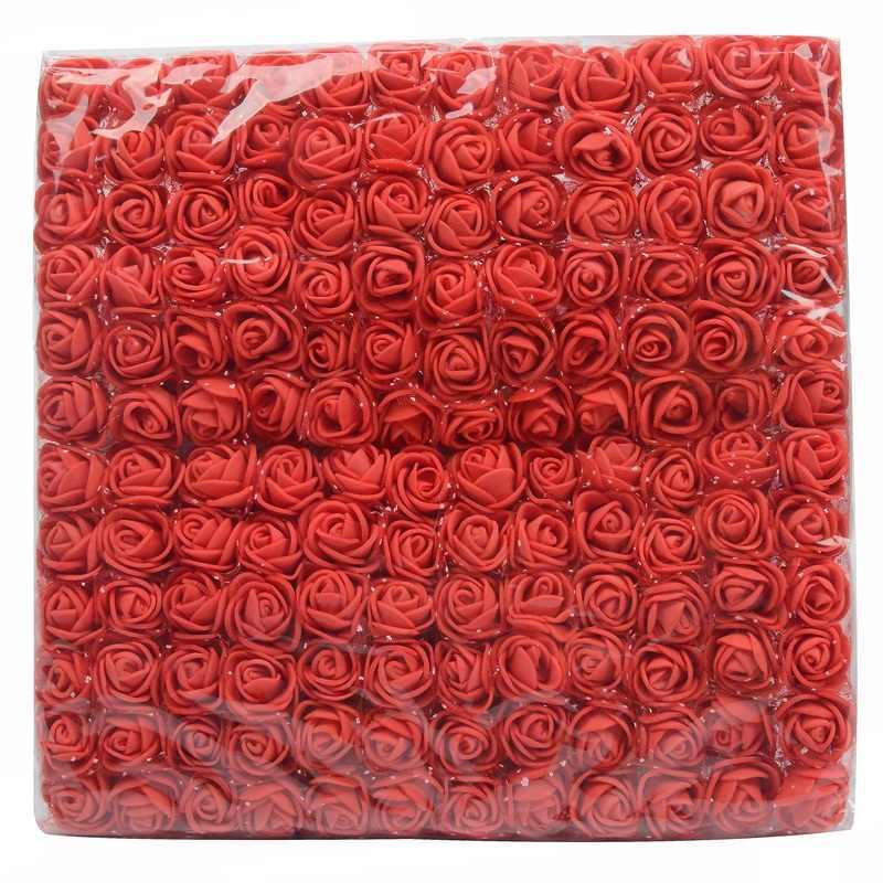 144/12Pcs 2 ซม.Mini Foam Roseดอกไม้ประดิษฐ์ดอกไม้ช่อดอกไม้งานแต่งงานตกแต่งDIYพวงหรีดราคาถูกปลอมroseดอกไม้