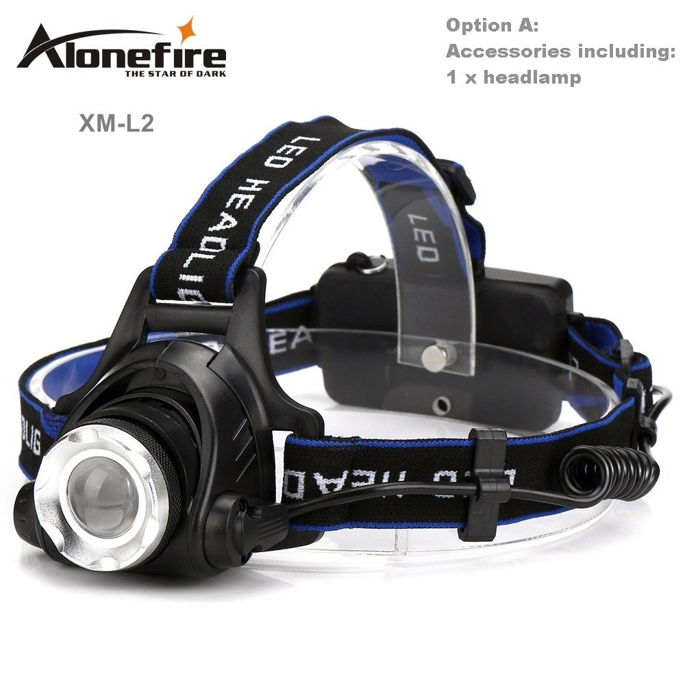 AloneFire HP79 CREE XM-L2 LED 3800 Lumens Rechargeable Zoom Headlight LED Headlamp CREE For 2x18650 Battery