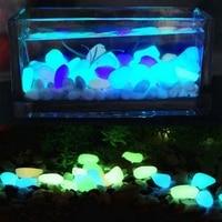 120 SZTUK Świecić w Ciemności Kamienie Zielony Decor Ogródkiem Żwirowa Luminous Skały Niebieski Dość Stylowe Atrakcyjne Kreatywny