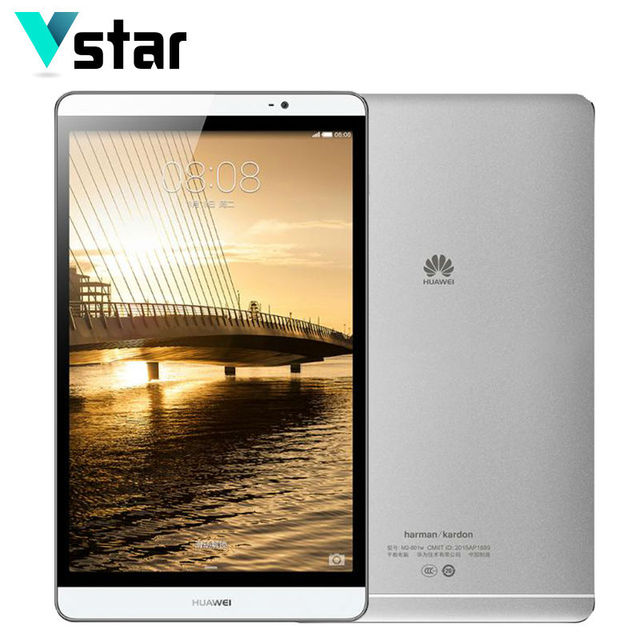 Оригинал Huawei MediaPad M2 8.0 дюймов Octa Core WIFI/LTE металла tablet KIRIN 930 32 ГБ ROM 3 ГБ ОЗУ 8.0MP нескольких языков
