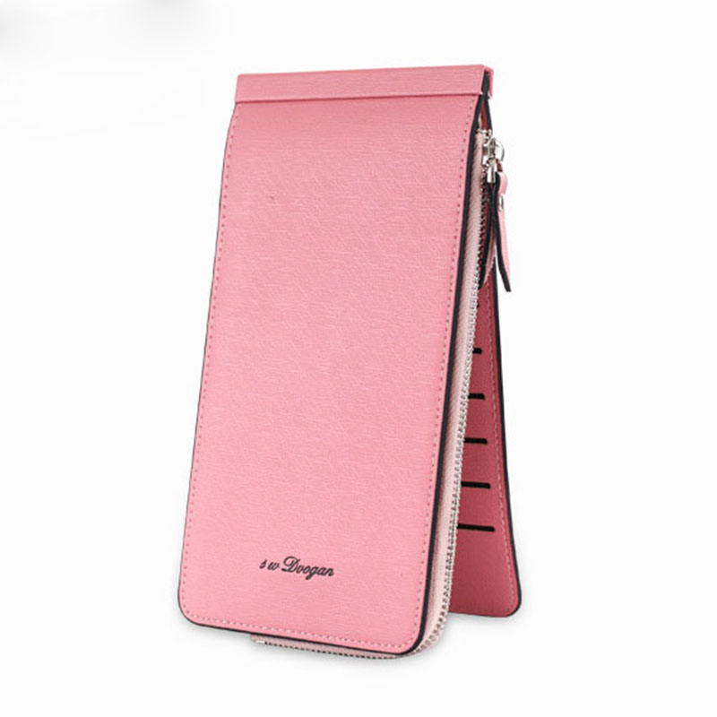 On Sale leather women men credit card holder travel wallets bags ladies Clutch purse cheap id cardholder carteira feminina WT009