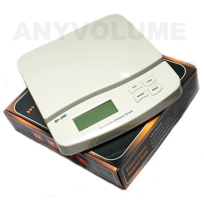 NEW High Precision Electronic Digital Kitchen Bake Bench Scale Post Parcel Scale AC power-White SF-550 25kg/1g Factory price цена