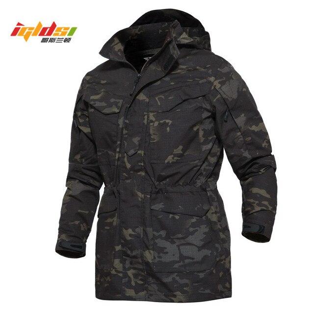 46b744fd122 Camouflage Military Field Jacket Men M65 US Army Casual Hoodie Tactical  Jacket Autumn Waterproof Windbreaker Flight Pilot Coats