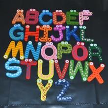 Magnet Fridge Sets 26 English Letters 5.8cm Safe Non-toxic Wooden Fridge Magnet Souvenir Cute Magnets Toys for Children Fridge colorful a z 26 alphabet letter wooden fridge magnet toy