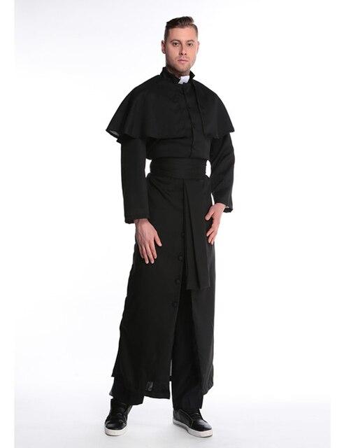 MOONIGHT Halloween Costumes Adult Mens Costume European Religious Men Priest Uniform Fancy Dress Cosplay Costume for Men 2