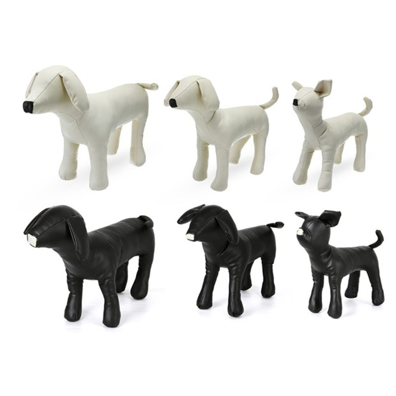 Manequins do cão de couro posição permanente