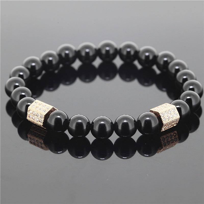 1pc 8mm Beads Men Stretch Bracelet