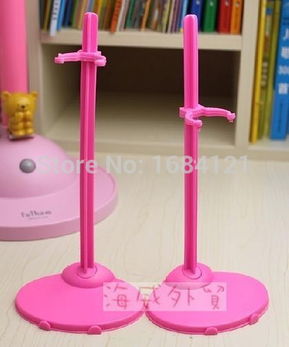 Ny Gratis frakt 10pcs / lot 2 farger blandet Dukkeholder Display Holder For Barbie Dolls, dukke støtter for barbie