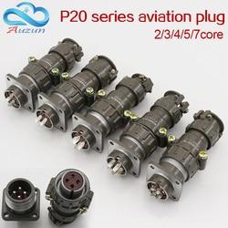 Aviation plug socket round connector P20 series 2.3.4.5.7core diameter 20MM aviation plug