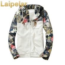 Laipelar floral patchwork men jacket winter warm bomber camouflage coat trench windbreaker streetwear tracksuit