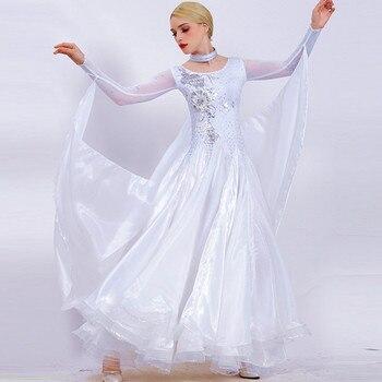 white ballroom dance competition dresses women ballroom dress rumba standard dance dresses ballroom waltz dresses dance wear
