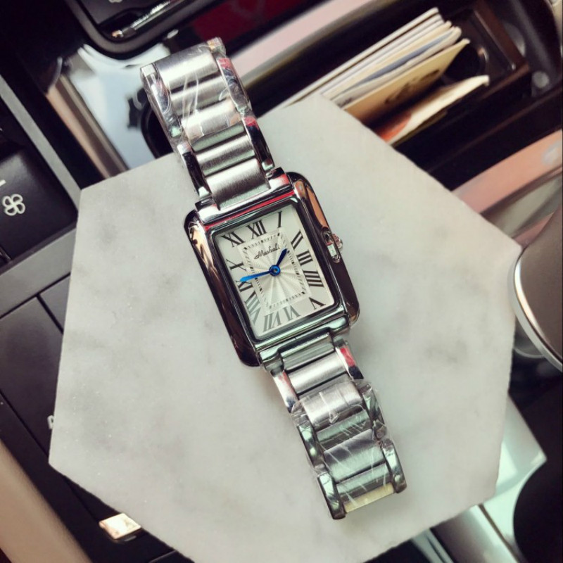 New Women Dress Watches Fashion Watches Luxury Brand Square Dial Personalized Casual Full Steep Strap Watches orologi donna
