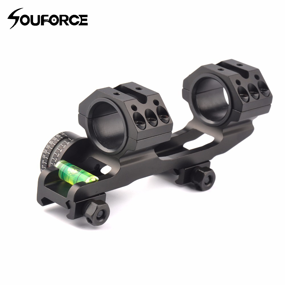 3 Model 25.4/30mm Scope Ring Base Mount with Angle Indicator and Spirit Buble Level for Hunting Accessories ...